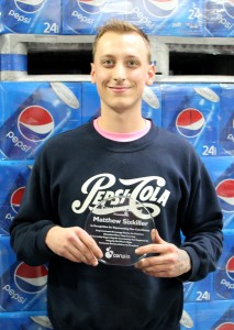 Max Sixkiller is the most recent winner of the Corwin Beverage Company Core Values Award.